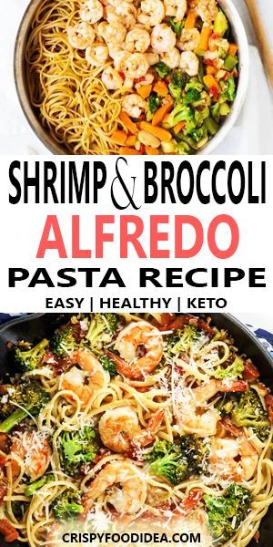Shrimp and Broccoli Alfredo - Keto lunch recipe