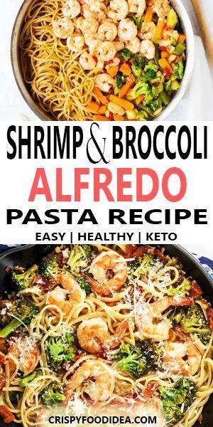 Shrimp and Broccoli Alfredo - Keto lunch recipe