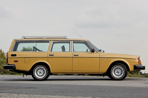 A clean example of an early 80's Volvo 245.