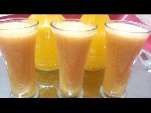 عصير مدهش ببرتقالة واحدة و حامضة واحدة لن تصدق كمية كبيرة Youtube Glassware Tableware Pint Glass