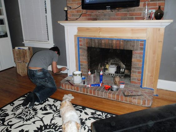 Building a Fireplace Mantel for under 100 Hammers and High Heels ...