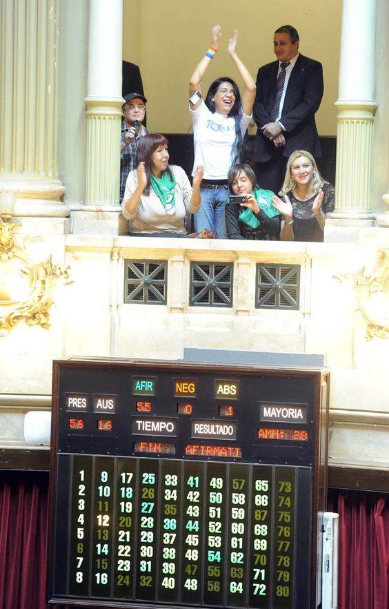 Momento de la aprobación de la LIG en 2012. / Foto del archivo personal de Alba Rueda