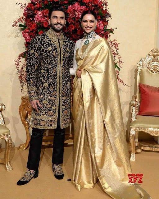 12 Stunning Photographs Of Ranveer Singh And Deepika Padukone Wedding Reception Mehndi Desig Indian Bridal Outfits Deepika Padukone Style Indian Groom Wear