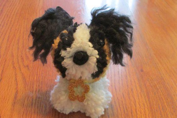 Papillon pom pom puppy teacup pup by brillianntcrafts on for Pom pom puppy craft