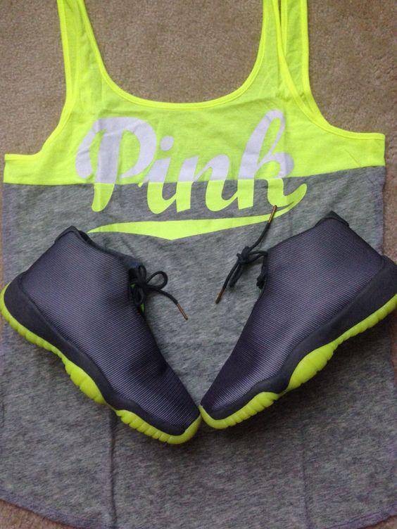 Victoria's Secret Pink w/ Jordan Future sneakers