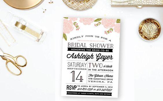 Floral Botanical Bridal Shower Invitation  by blushprintables, $15.00