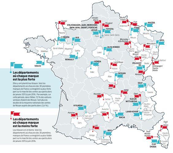 L'argus dévoile la carte de France des achats automobiles