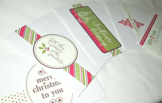 Gift Certificate Holder Gift Card Holder Gift Card Greeting Card Christmas Card Christmas Gift Card