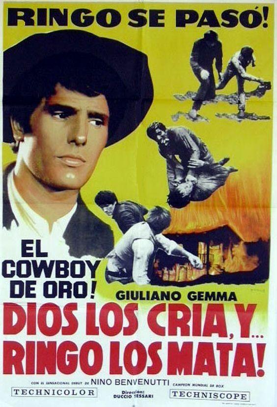 Dios Los Cria Y Ringo Los Mata 1969 Arg Tt0065185 C Western Movies Hollywood Poster Movie Posters Vintage