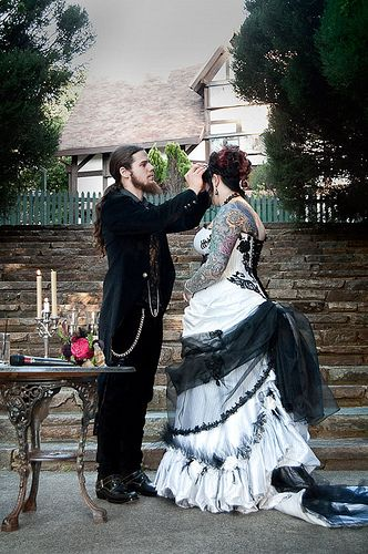 Image result for goth wedding