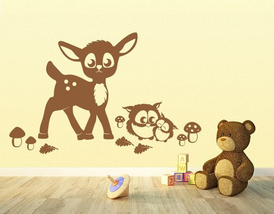 ... Wald! #Wandtattoo #Kinderzimmer #Reh #Waldtiere Lebendig Pinterest