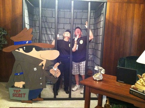 Jail cell phot booth
