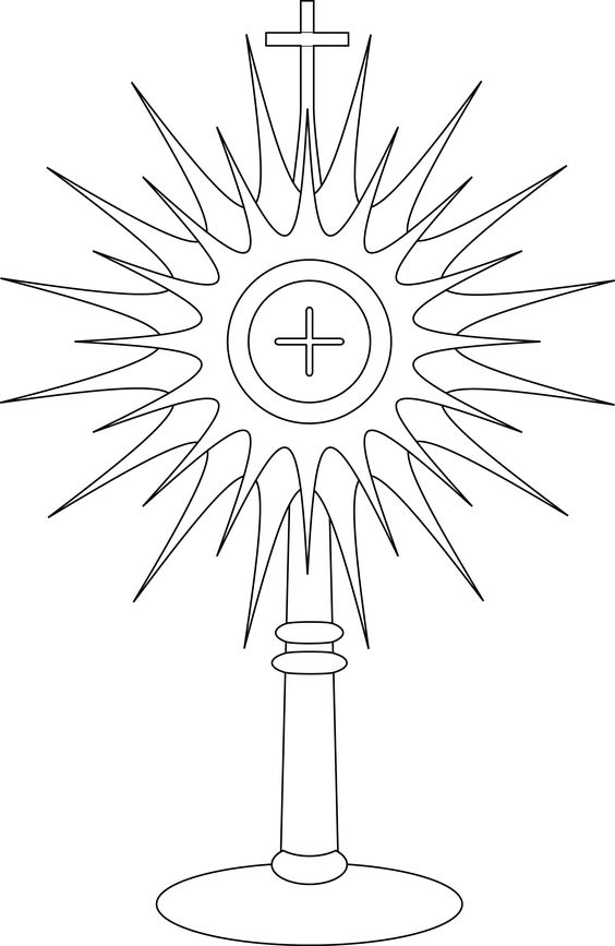 monstrance coloring pages for kids - photo#5