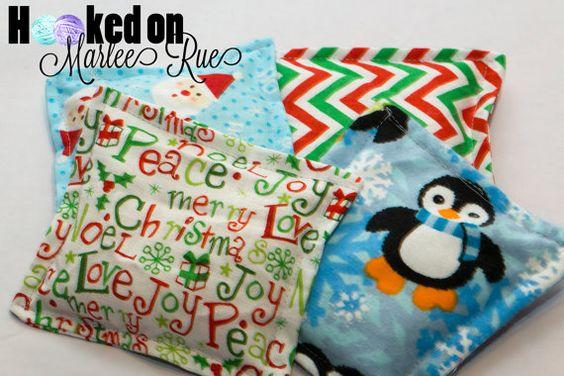 Holiday Rice Bag for Nail Shield/Nail Wrap by HookedonMarleeRue
