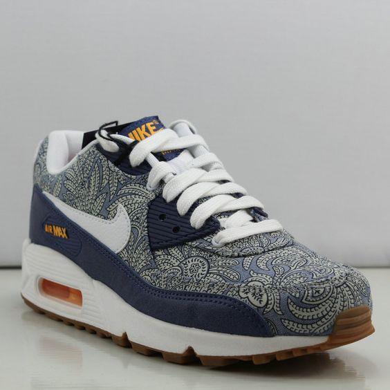 online store e432e 0cef3 ... NIKE AIR MAX 90 LIBERTY OF LONDON BLUE WHITE 654846 400 190 Nike Air Max  90 ...