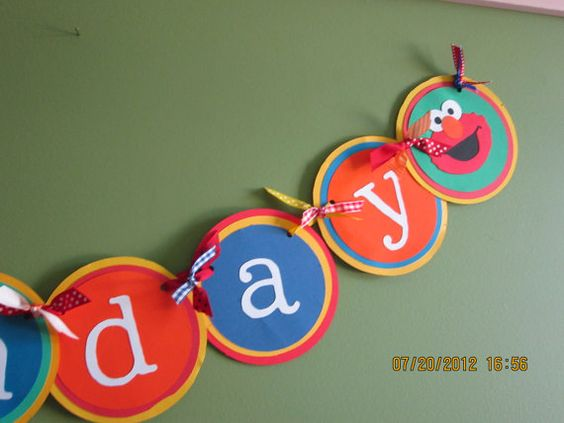 Elmo happy birthday banner for party decorations by marilyncturner - sample happy birthday email
