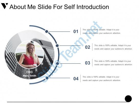 About Me Slide For Self Introduction Example Of Ppt Slide01