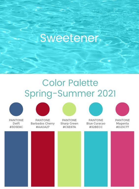 Trend Color Palette Spring-Summer 2021 Sweetener #color #trends