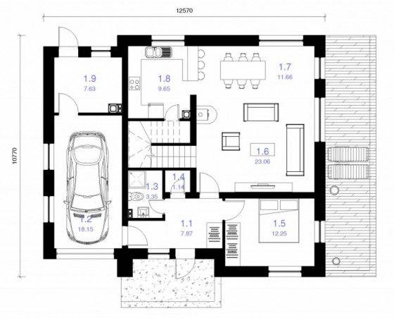 Plano casa 120 metros cuadrados proyectos que debo for Diseno de casa de 120 metros cuadrados