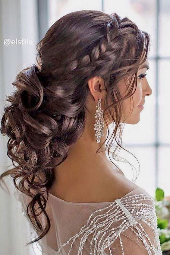 Bridal Hairstyles For Strapless Dress Bridal Hair Bridal Dress Hair Prom Hairstyles For Long Hair Medium Length Hair Styles Wedding Hairstyles For Long Hair
