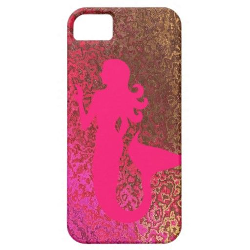 Really Pretty iPhone 5 Barely There Case Pink Gold Mermaid