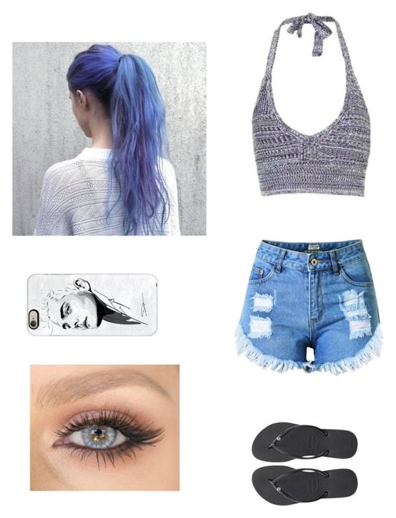 """Untitled #327"" by laurel8760 ❤ liked on Polyvore featuring Topshop, Havaianas and Casetify"