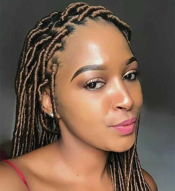 Faux Locs Box Braids — With A Bang