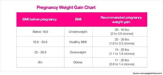 How Much Should I Weigh During My Pregnancy  Pregnancy