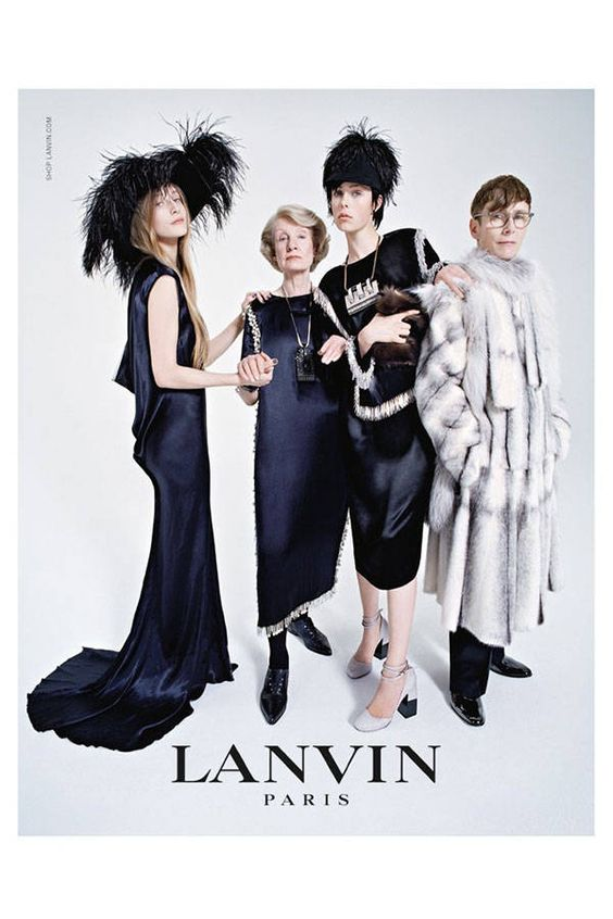 To celebrate its 125th anniversary, Lanvin has expanded its iconic mother-and-daughter logo to include an entire family.  See more stellar ad campaigns from Fall 2014 here!