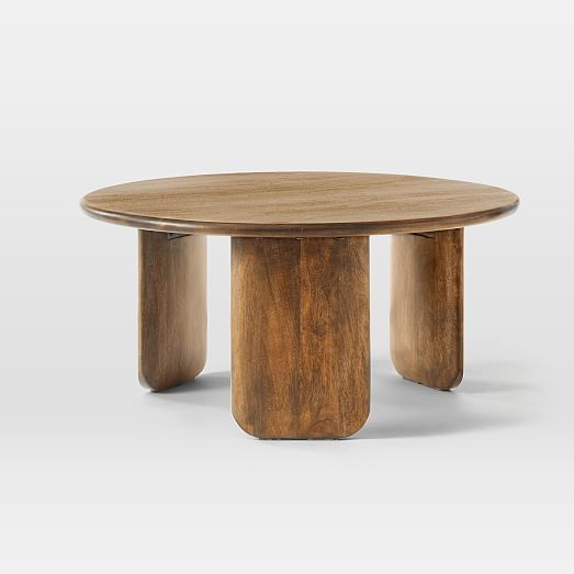Carved Wood Side Table Coffee Table Wood Round Wood Coffee Table Solid Wood Coffee Table