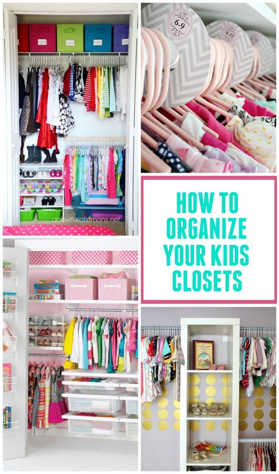 Kid closet closet organization and organization ideas on for Organized kids rooms