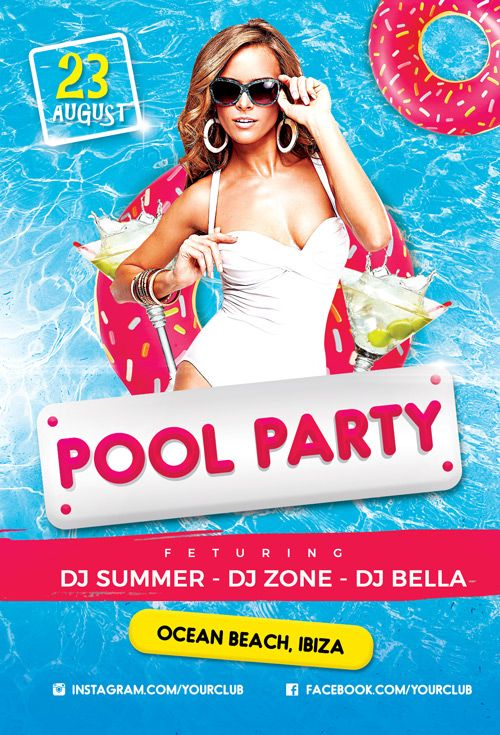 pool party flyer psd summer pool party flyer psd template - https://ffflyer