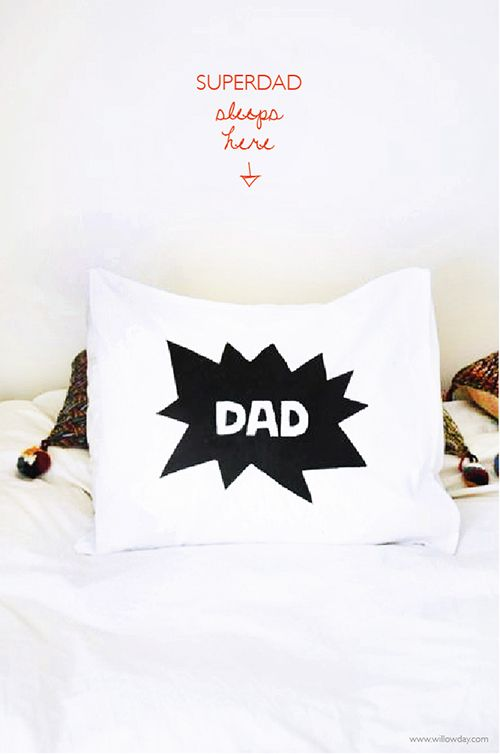 Gifts for him | Make a Superdad Pillow Case with template // willowday