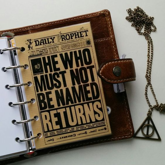 FAVtastic: Planner meets Potter | Harry Potter | Daily Prophet | Ministry of Magic | Filofax | Planner | Organizer | Inspiration | Ideas
