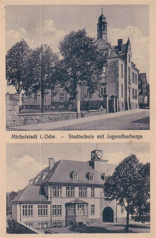 Stadtschule Alte Ansichten Und Korrespondenz Aus Dem Odenwald