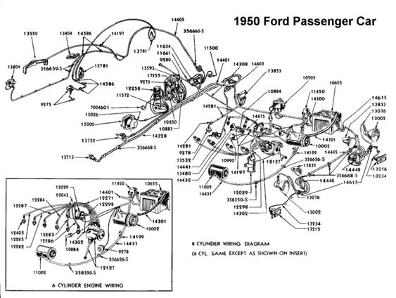 wiring diagram for 1950 ford wiring pinterest ford 1956 ford headlight switch wiring diagram