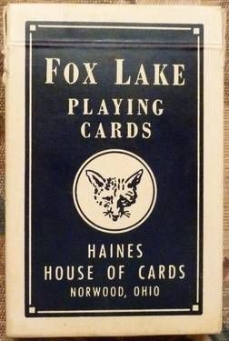 Vintage Fox Lake Playing Cards: