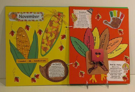 November scrapbook example: Scrapbook Ideas, Seasons Handprints Memory, November Scrapbook, Halloween Autumn Season, Teaching Seasonal, Scrapbook Example, Craft Ideas, Memory Books