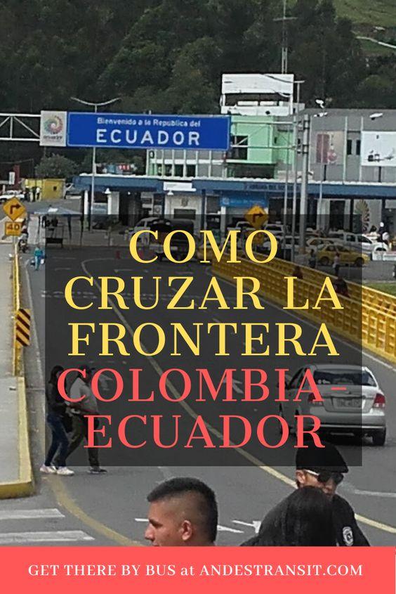 Colombia y Ecuador: frontera para viajeros en bus (Pinterest)