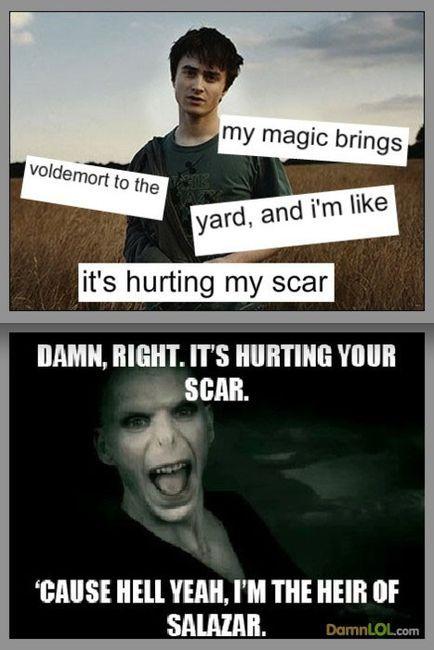 my magic brings voldemort to the yard