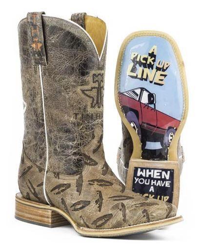Tin Haul Men's Diamond Plate Western Cowboy Boots   Boots ...