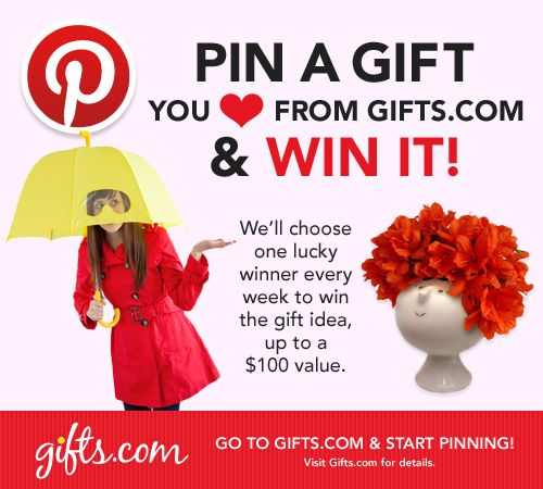 Pin It to Win It Contest Kick Off! on http://blog.gifts.com #giveaway $100