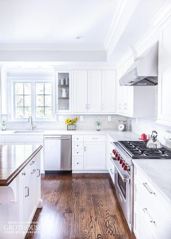 Custom Walnut Wood Kitchen Countertop In Bethesda Maryland Https Mesmerizing Kitchen Wood Countertops Design Ideas