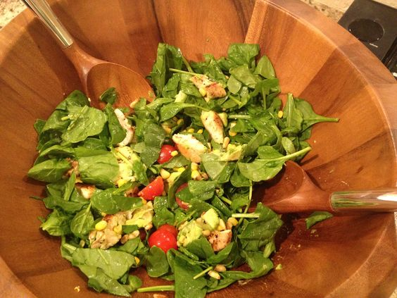 Salad with chicken, Spinach salads and Goat cheese on Pinterest