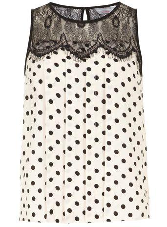 Petite Spot Lace Blouse. Cute. Get your own personal stylist @ StitchFix  https://stitchfix.com/referral/3503147