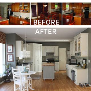 Diy kitchen remodel diy kitchens and kitchens on pinterest for Paint kitchen cabinets white without sanding