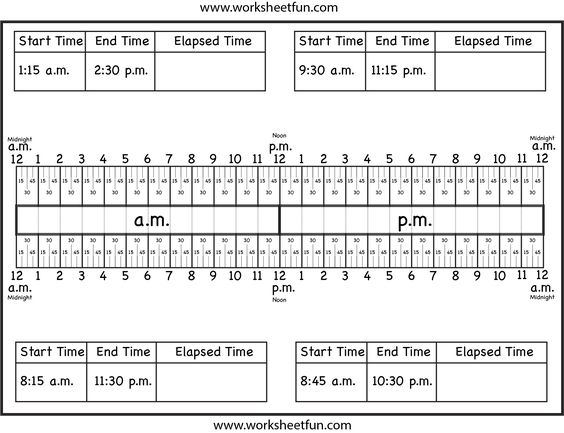 Number Line Worksheets time number line worksheets : Number Line Worksheets : elapsed time number line worksheets 3rd ...