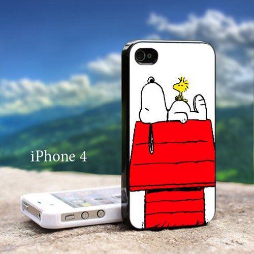 Snoopy Woodstock Sleep Iphone 4 / 4s Black Case   GoToArt - Accessories on ArtFire