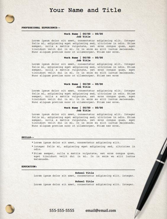 Pinterest \u2022 The world\u0027s catalog of ideas - standard resume template