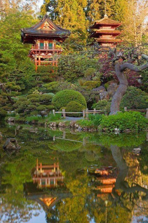 Japanese Tea Garden Golden Gate Park San Francisco Japanesegarden Japanese Garden Night Japanese Garden Tea Garden Beautiful Gardens